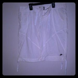 Nike white shorts